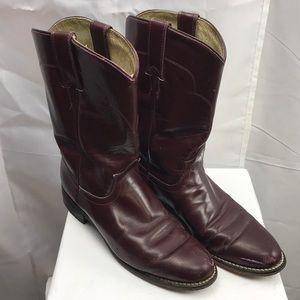 Tony Lama Burgundy Cowboy Boots Sz. 7